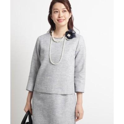 Dessin / デッサン 【ママスーツ/入学式 スーツ/卒業式 スーツ Sサイズあり】ツイードブラウス