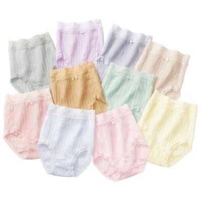ベルーナ 【10色組】いつでも清潔!綿のすっぽりショーツ 1 LL レディース