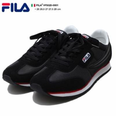 フィラ FILA スニーカー ローカット 【F5020-0001】 メンズ 靴 シューズ 80年代 名作 オリエンタルジョガー 復刻 黒 革切替 ランニング