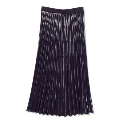 スカート roberto collina:プリーツストライプドスカート