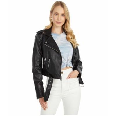 リーバイス レディース コート アウター Faux Leather Fashion Moto Black