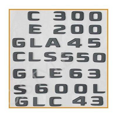 Flat ブラック Trunk Letters Badge Badges エンブレム エンブレムs  Mercedes ベンツ E200 E220 E250 E300 E320 E350 E400 E500 V8