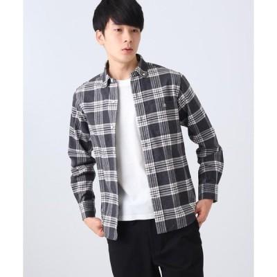 DRESSTERIOR / ドレステリア 丸衿ビエラフランネルチェックシャツ
