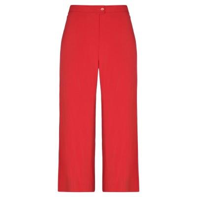 CLIPS MORE パンツ レッド 42 レーヨン 97% / ポリウレタン 3% パンツ