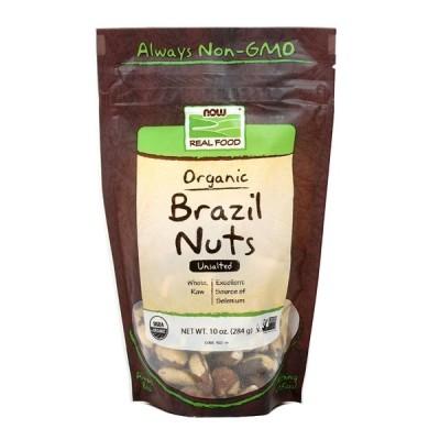 オーガニックブラジルナッツ 無塩 ナウフーズ 284g Now Foods Organic Brazil Nuts, Unsalted 10 oz