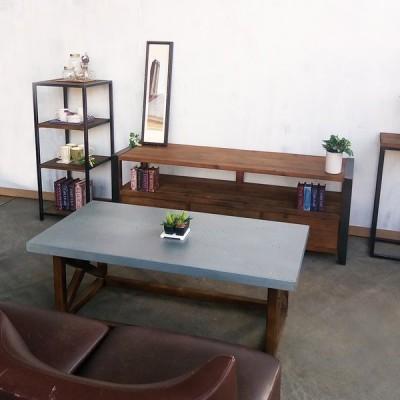 KOZAIコーヒーテーブル 古材 ・ブルックリンスタイル 長方形 古材・インダストリアル ローテーブル センターテーブル アンティーク風