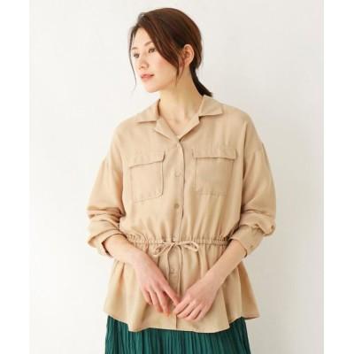 SHOO・LA・RUE/シューラルー オープンカラーシャツ+インナータンクトップ サンドベージュ(053) 02(M)