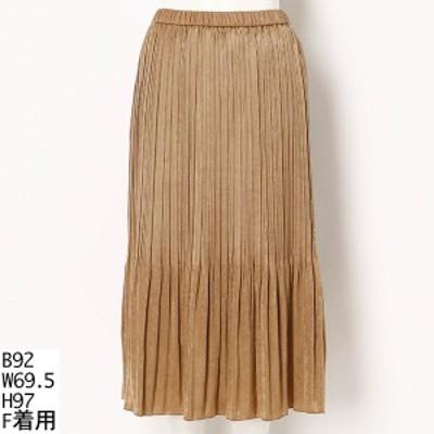 ラクープ(LACOUPE)/【大きいサイズ】【ウエストゴム】プリーツスカート