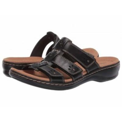 Clarks クラークス レディース 女性用 シューズ 靴 サンダル Leisa Spring Black Leather【送料無料】