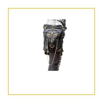 【☆送料無料☆新品・未使用品☆】DiaoPiou Women Motorcycle Leg Bag Pu Leather Rivet Cool Purse Personality Travel Outdoor Wallet Bags G