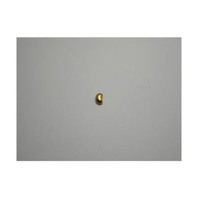 新潟 燕三条 純チタンピアス 片耳 ビーンズ ゴールド  金属アレルギーの方も安心