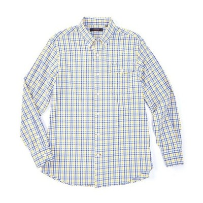 ダニエル クレミュ メンズ シャツ トップス Plaid Performance Long-Sleeve Woven Shirt