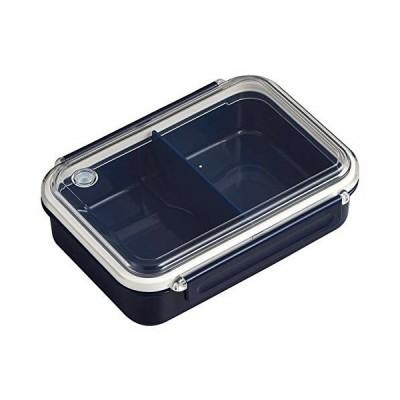 OSK 弁当箱 まるごと 冷凍弁当 ネイビー 650ml タイトボックス (仕切付) (日本製) PCL-3S