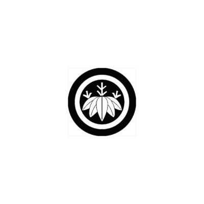 家紋シール 丸に篠笹紋 直径10cm 丸型 白紋 2枚セット KS10M-0624W