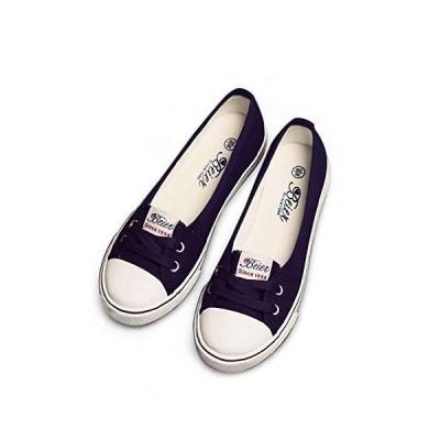 [BAINASIQI] [YoniStar] レディース 白い キャンバス シューズ ズック靴 スリッポン ローファー 夏 通気性 カジュア