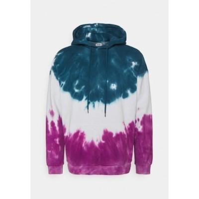 ユアターン パーカー・スウェットシャツ メンズ アウター UNISEX - Sweatshirt - teal/white/pink
