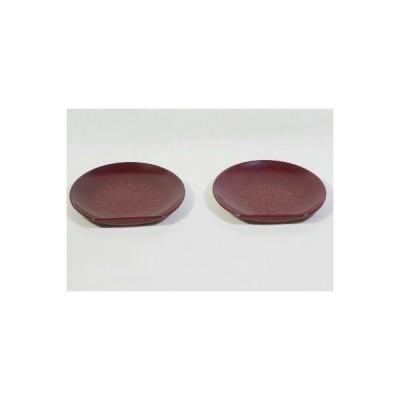 鎌倉彫 銘々皿 刀痕 2枚組み