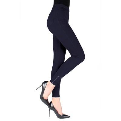 メモイ レディース カジュアルパンツ ボトムス Ankle Zipper Leggings DARK NAVY