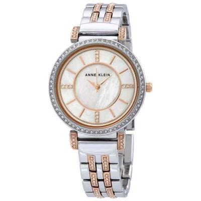 腕時計 アンクライン Anne Klein Crystal MOP  Dial Ladies Watch 3145MPRT