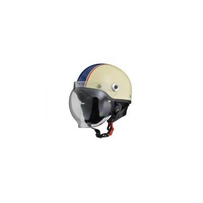 リード工業  CROSS ハーフヘルメット アイボリー×ネイビー フリーサイズ CR-760