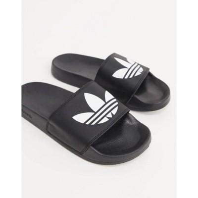 アディダス メンズ サンダル シューズ adidas Originals adilette lite sliders in black