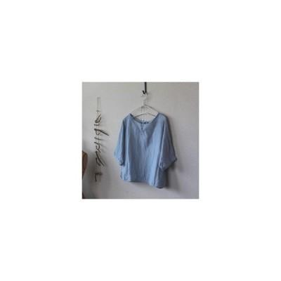 リネン7分袖/lithuanian linen【受注生産品】