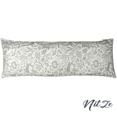 CAMEL PALMS 日本製 綿100% ロングまくら用 枕カバー ファスナー式 43120cm用 適度な厚さの生地 森の動物たち A