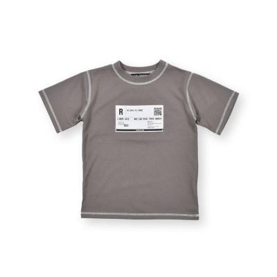 【べべオンラインストア】 フロント パッチ Tシャツ(120~160cm) キッズ グレー 120cm BEBE ONLINE STORE