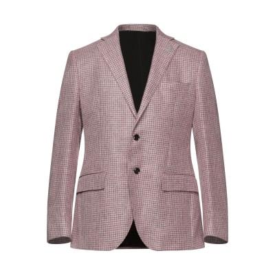 LUBIAM テーラードジャケット ピンク 50 リネン 55% / シルク 25% / コットン 20% テーラードジャケット