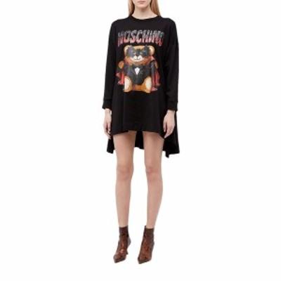 モスキーノ レディース ワンピース トップス Dracula Bear Dress Black