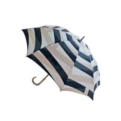 日本製エスクール 綿プリント 晴雨兼用 ショート傘 幾何柄 新作