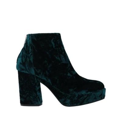 JANET & JANET ショートブーツ  レディースファッション  レディースシューズ  ブーツ  その他ブーツ グリーン