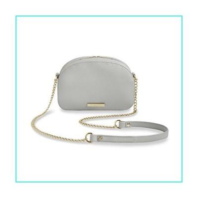 【新品】Katie Loxton Half Moon Taupe Grey Women's Faux Leather Crossbody Handbag Purse(並行輸入品)