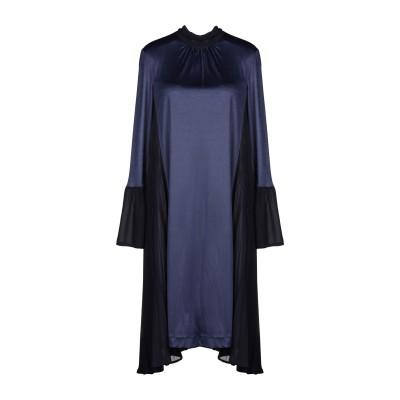 メルシー ..,MERCI ミニワンピース&ドレス ダークブルー 40 コットン 100% ミニワンピース&ドレス