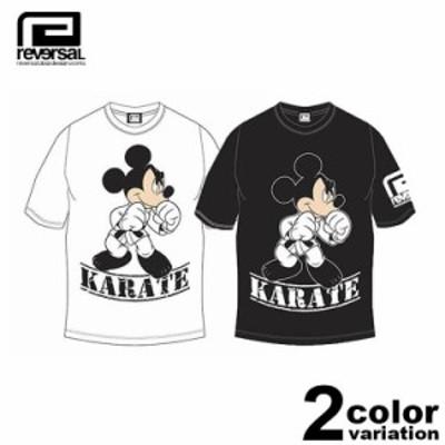 リバーサル reversal Tシャツ 半袖 Mickey Mouse / KARATE TEE ディズニー ミッキー コラボ 「rvMKY14aw001」