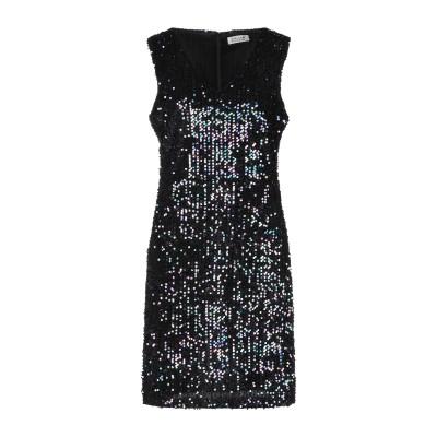 MOLLY BRACKEN ミニワンピース&ドレス ブラック L ポリエステル 100% ミニワンピース&ドレス