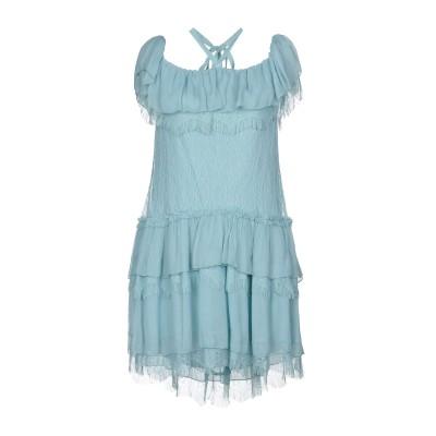 アリス・アンド・オリビア ALICE + OLIVIA ミニワンピース&ドレス アジュールブルー 8 ナイロン 100% / レーヨン ミニワンピー