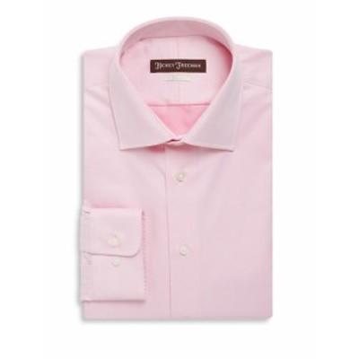 ヒッキーフリーマン Men Clothing Classic Fit Solid Twill Dress Shirt