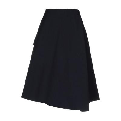 エンフォルド ENFÖLD 7分丈スカート ダークブルー 38 コットン 99% / ポリウレタン 1% 7分丈スカート