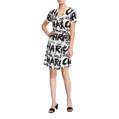 ダイアン フォン ファステンバーグ レディース ワンピース トップス Saville Typographic Wrap Dress
