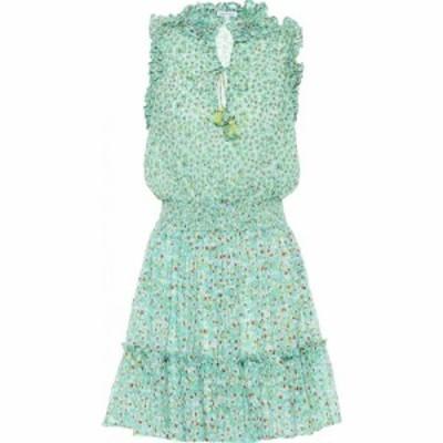 プーペット セント バース Poupette St Barth レディース ワンピース ミニ丈 ワンピース・ドレス Triny printed mini dress Green Iris