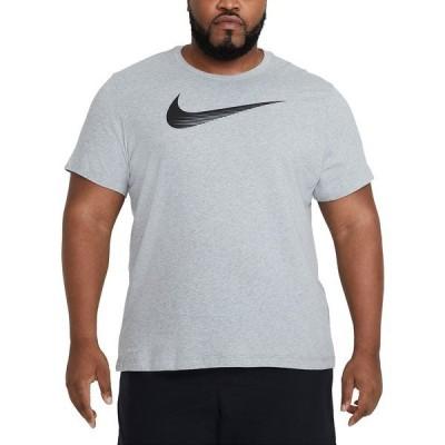 ナイキ Tシャツ トップス メンズ Men's Big & Tall Swoosh Dri-FIT Logo Graphic T-Shirt Dark Grey Heather