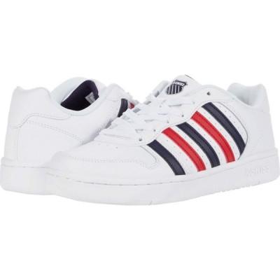 ケースイス K-Swiss レディース スニーカー シューズ・靴 Court Palisades White/Navy/Red