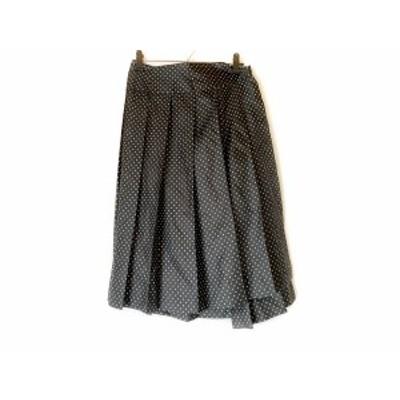 トリココムデギャルソン tricot COMMEdesGARCONS スカート サイズM レディース 黒×白 ドット柄【中古】20200726