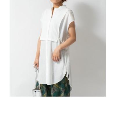 レイヤード風ノースリーブシャツ