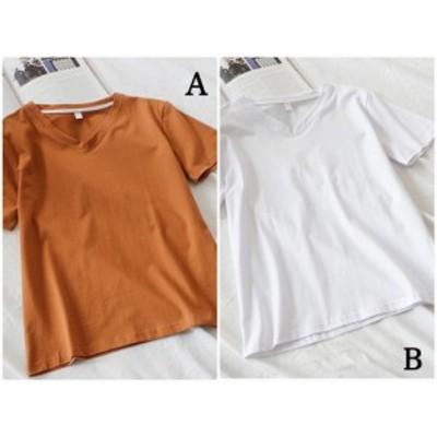 レディース 大きいサイズ Tシャツ 無地 半袖 ショートスリーブ 夏 春 クルーネック トップス 送料無料