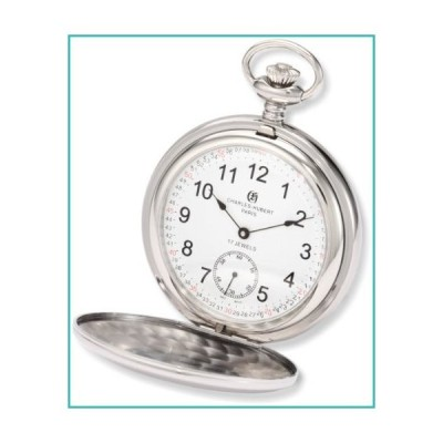 Charles-Hubert, Paris 3907-WRR Premium Collection Stainless Steel Polished Finish Double Hunter Case Mechanical Pocket Watch【並行輸入