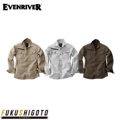 EVENRIVER ERX106 ソリッドシャツ M-LL 【オールシーズン対応 イーブンリバー 作業服 作業着 】