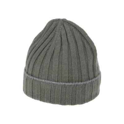 ブルネロ クチネリ BRUNELLO CUCINELLI 帽子 ミリタリーグリーン M カシミヤ 100% 帽子