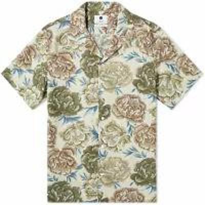 NN07 メンズシャツ NN07 Miyagi Vacation Shirt Khaki Pri